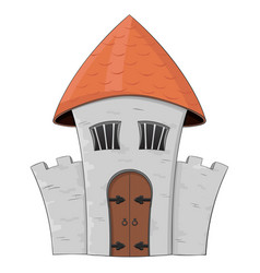 old castle colored doodle vector image