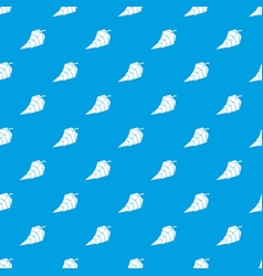 origami leaf pattern seamless blue vector image