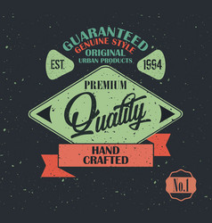Original product vintage label design vector