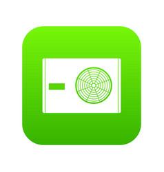 Outdoor compressor of air conditioner icon digital vector