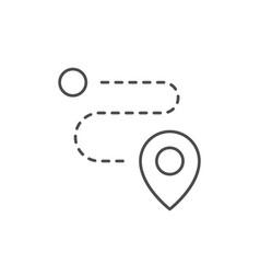 path scheme line outline icon vector image