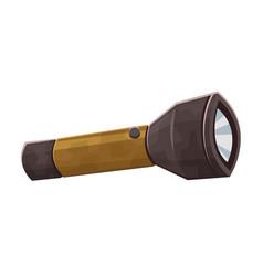 pocket touristic flashlight isolated on white vector image