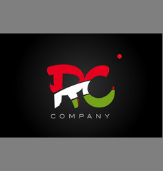 Rc r c alphabet letter logo combination icon vector