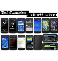 Real smartphone mega collections vector