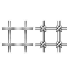 realistic prison bars vector image