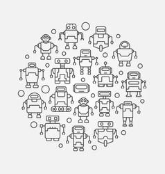 robots circular - round symbol vector image