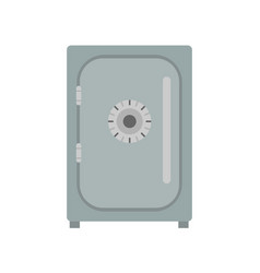 safe icon vevtor lock box bank security deposit vector image