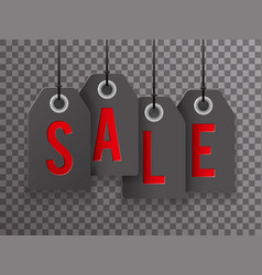 sale text black friday symbol labels icon vector image