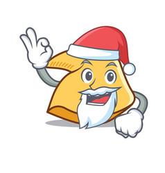 Santa fortune cookie mascot cartoon vector