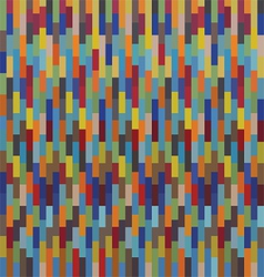 Seamless colorful square pattern mosaics vector image