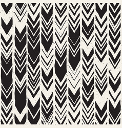 Seamless hand drawn style chevron pattern in vector