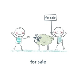 selling sheep vector image
