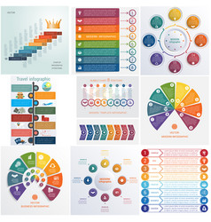 Set 10 universal templates elements infographics vector