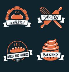 set logotypes elements labels badges vector image