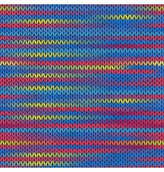 Style seamless knitted melange pattern red blue vector