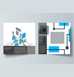 The minimal layout of two square format vector