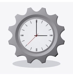 Traditional clock and gear design vector
