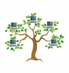 Tree with computers vector