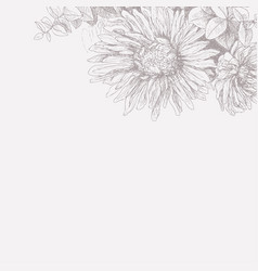 vintage floral background for your text vector image