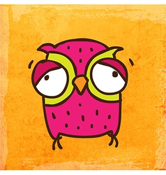 Weary Owl Cartoon vector