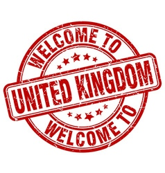 welcome to United Kingdom vector image