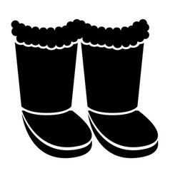 winter boots silhouette vector image