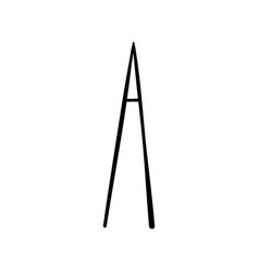 capital letter a painted by brush vector image