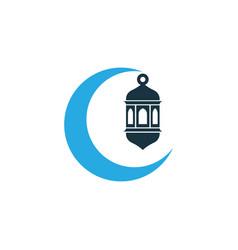 crescent colorful icon symbol premium quality vector image vector image