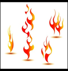 fire set vector image vector image