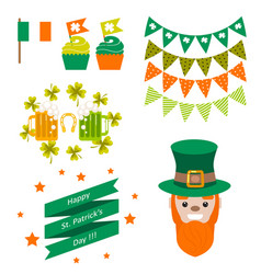 saint patricks day party objects vector image
