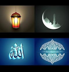set of attractive background of ramdan kareem vector image