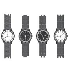 Set wristwatch with bracelet vector image vector image