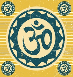 indian ohm symbol vector image