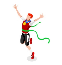 Running Winning Man 2016 Sports Isometric 3D vector image vector image