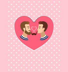 valentine s greeting card gay homosexuals couple vector image vector image
