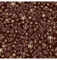 Vintage christmas set of xmas elements vector