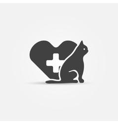 Cat vet icon vector image