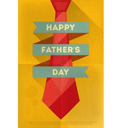 fathers day poster tie red vector image vector image