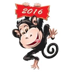 Fire Monkey vector image vector image