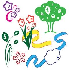 set of drawings vector image
