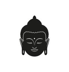 beautiful buddha face vector image