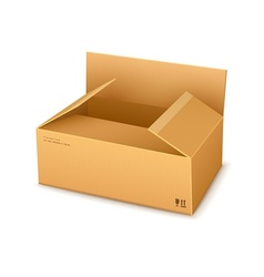 cardboard packaging box vector image vector image