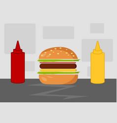 Hamburger cartoon vector