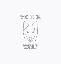 Linear wolf symbol vector