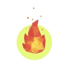 Lowpoly fire icon vector