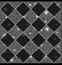 silver and black seamless chess styled vintage vector image vector image