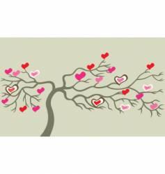valentine tree vector image vector image