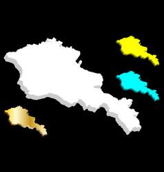 3d map of armenia vector