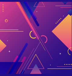 Abstract modern background vibrant geometric vector