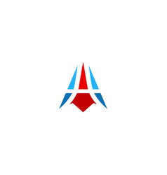 abstract triangle shape business company logo vector image